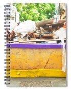 Waste Skip Spiral Notebook