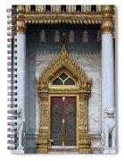 Wat Benchamabophit Ubosot Front Entrance Dthb1242 Spiral Notebook