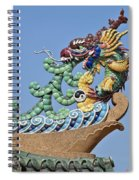 Wat Chaimongkol Pagoda Dragon Finial Dthb787 Spiral Notebook