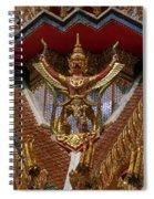 Wat Hua Lamphong Ubosot Roof Garuda Dthb1065 Spiral Notebook