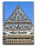 Wat Ratcha Orasaram Temple Gate And Ubosot Gable Dthb858 Spiral Notebook