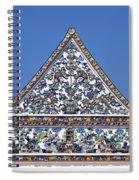 Wat Ratcha Orasaram Ubosot Gable Dthb427 Spiral Notebook