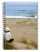 Watching The Ocean Spiral Notebook
