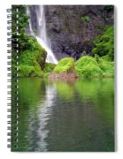 Waterfall Reflection In Tahiti Spiral Notebook