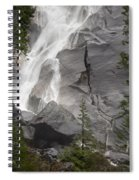 Water Cascading Down The Rock And Spiral Notebook