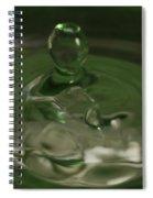 Water Drop Abstract Green 28 Spiral Notebook