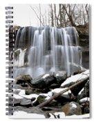 Water Falls At Rock Glen Spiral Notebook