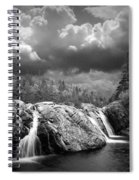 Water Falls At The Aquasabon River Mouth Spiral Notebook