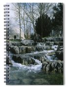 Water Flowing In A Garden, St. Fiachras Spiral Notebook