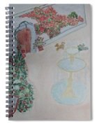 Water Fountain Amidst Garden Spiral Notebook