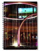 Water Fountain With Circle Seven Shape Spiral Notebook