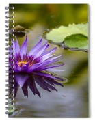 Water Lily Kissing The Water Spiral Notebook