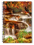 Water Over The Rocks Spiral Notebook