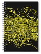 Water Pattern Spiral Notebook