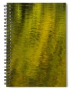Water Reflection Abstract Autumn 1 A Spiral Notebook