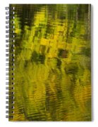 Water Reflection Abstract Autumn 1 E Spiral Notebook