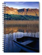 Water Reflections With Boat Spiral Notebook