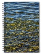 Water Ripples And Reflections On Lake Huron Spiral Notebook