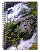 Water Running Down Ledge Spiral Notebook