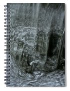 Water Wall And Whirling Bubbles Spiral Notebook