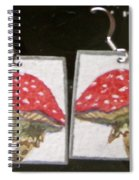 Watercolor Earrings Amanita Spiral Notebook
