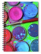 Watercolor Palette Spiral Notebook