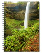 Waterfall Along The Trail Spiral Notebook