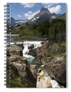 Waterfall At Many Glacier Spiral Notebook