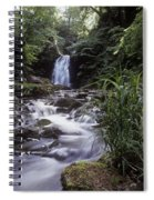Waterfall In A Forest, Glenoe Spiral Notebook