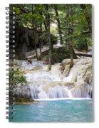Waterfall In Deep Forest Spiral Notebook