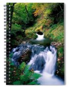 Waterfall In The Woods, Ireland Spiral Notebook