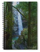Waterfall In The Woods Spiral Notebook