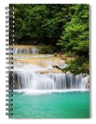Waterfall In Tropical Forest Spiral Notebook