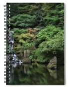 Waterfall - Portland Japanese Garden - Oregon Spiral Notebook