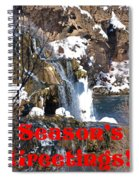 Waterfall Seasons Greeting Spiral Notebook