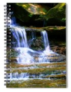 Waterfall Trio At Mcconnells Mill State Park Spiral Notebook