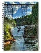 Waterfall Under The Bridge Spiral Notebook