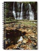 Waterfalls, During The Autumn, Glenoe Spiral Notebook