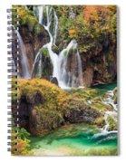 Waterfalls In Autumn Scenery Spiral Notebook