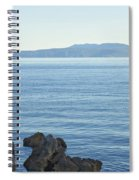Waterfront Of Opatija Showing Statue Spiral Notebook