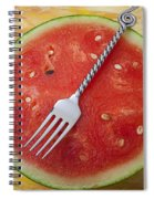 Watermelon And Fork Spiral Notebook