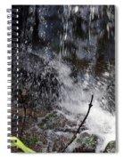 Watersplash In Sunlight Spiral Notebook