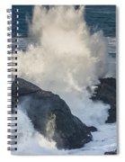 Wave Meets Seastack Spiral Notebook