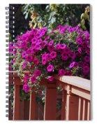 Wave Petunia Spiral Notebook