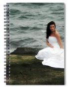 Waves And Rocks Spiral Notebook