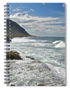Waves Breaking On Shore 7876 Spiral Notebook