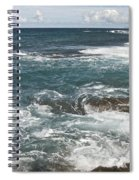 Waves Breaking On Shore  7918 Spiral Notebook