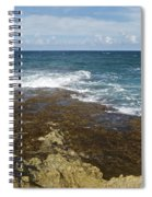Waves Breaking On Shore 7930 Spiral Notebook