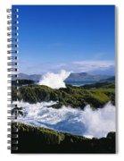 Waves Breaking Over Rocks, West Cork Spiral Notebook