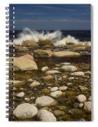 Waves Hitting Rocks, Anchor Brook Spiral Notebook